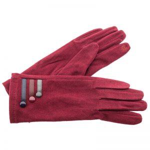 Verde γυναικεία γάντια one size μπορντό 02-605