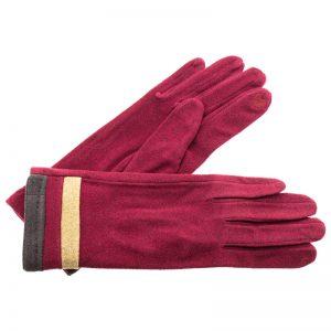 Verde γυναικεία γάντια one size μπορντό 02-606