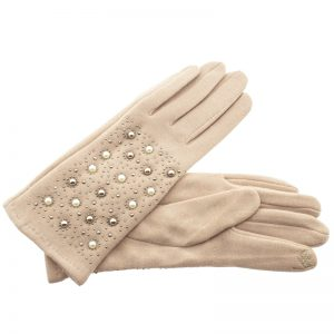 Verde γυναικεία γάντια one size μπεζ 02-609