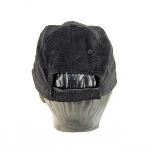 Karfil ανδρικό καπέλο jockey κοτλέ μαύρο