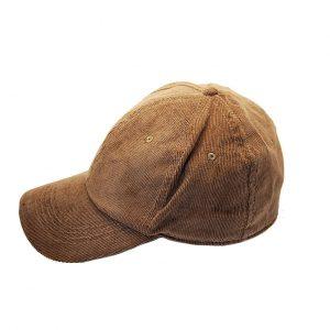 Karfil ανδρικό καπέλο jockey κοτλέ καφέ