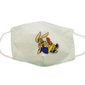 Υφασμάτινη παιδική μάσκα λαγό