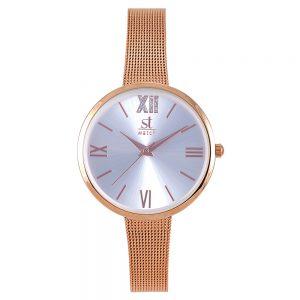 Season γυναικείο ρολόι ροζ-χρυσό rumba series 2280-1