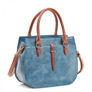 Verde τσάντα χεριού και χιαστί μπλε