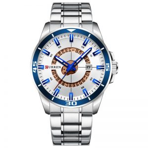 Curren Ανδρικό Ρολόι 8359 ασημί