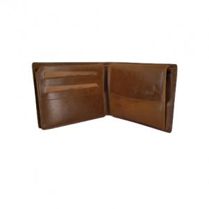 Lavor ανδρικό δερμάτινο πορτοφόλι κονιάκ ταυτότητας RFID