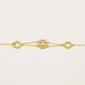 Βραχιόλι χρυσό επιπλατινωμένο ασήμι 925