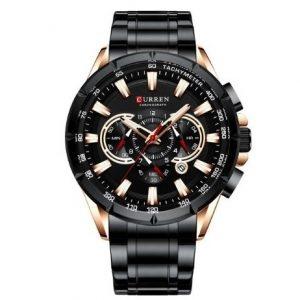 Curren Ανδρικό Ρολόι μαύρο M-8363