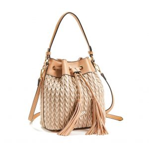 Verde τσάντα πουγκί χεριού και χιαστί γυναικεία χρυσή 16-5850