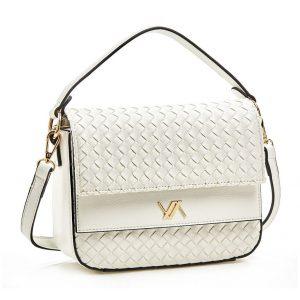 Verde τσάντα χεριού και χιαστί γυναικεία άσπρη 16-5920
