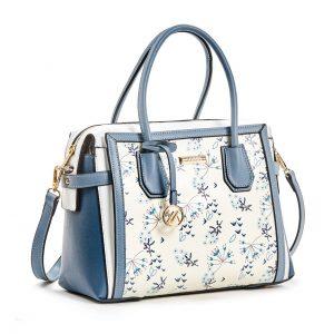 Verde τσάντα χεριού και χιαστί γυναικεία μπλε 16-5915
