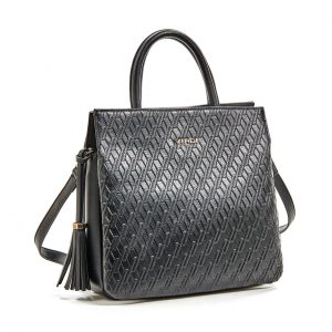 Verde τσάντα χεριού και χιαστί γυναικεία μαύρη 16-5946