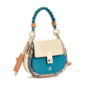 Verde τσάντα χεριού και χιαστί γυναικεία μπλε 16-5859