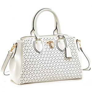 Verde τσάντα χεριού και χιαστί γυναικεία άσπρη 16-5930