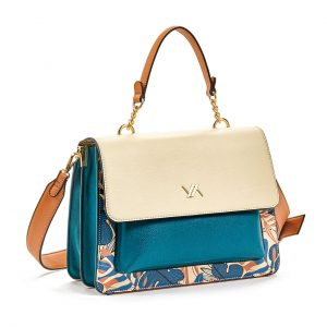 Verde τσάντα χεριού και χιαστί γυναικεία μπλε 16-5858