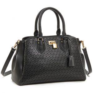 Verde τσάντα χεριού και χιαστί γυναικεία μαύρη 16-5930