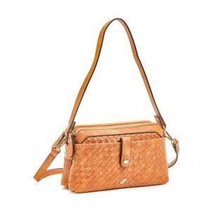 Verde τσάντα χεριού και χιαστί γυναικεία καμηλό 16-5918
