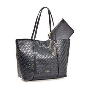Verde Τσάντα Ωμου Γυναικεία Μαύρη 16-5944