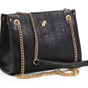 Verde τσάντα ώμου γυναικεία μαύρη 16-5885
