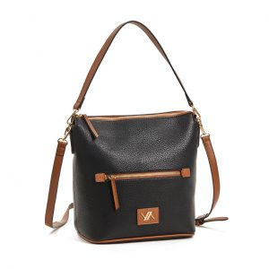 Verde τσάντα χεριού και χιαστί γυναικεία μαύρη 16-5863