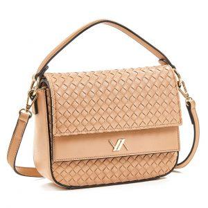 Verde τσάντα χεριού και χιαστί γυναικεία μπεζ 16-5920