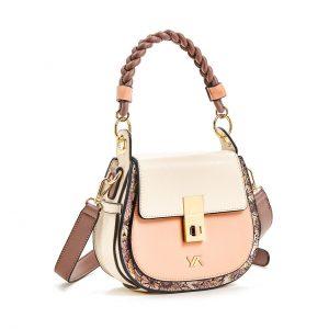 Verde τσάντα χεριού και χιαστί γυναικεία ροζ 16-5859