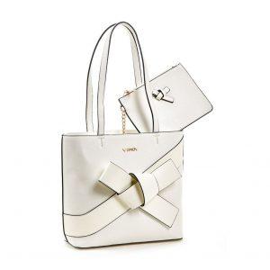 Verde τσάντα ώμου γυναικεία άσπρη 16-5867