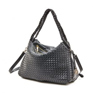 Verde τσάντα ώμου γυναικεία μαύρη 16-5874
