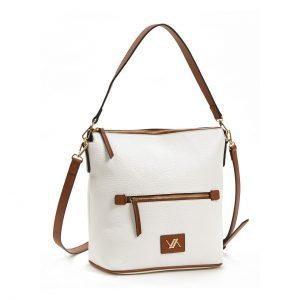 Verde τσάντα χεριού και χιαστί γυναικεία άσπρη 16-5863