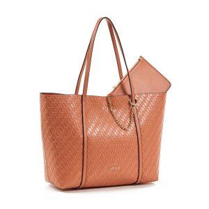 Verde Τσάντα Ωμου Γυναικεία Ροδακινί 16-5944