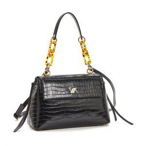 Verde τσάντα χεριού και χιαστί γυναικεία μαύρη 16-5905