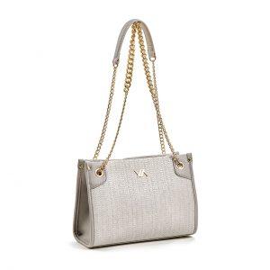 Verde τσάντα ώμου γυναικεία γκρι 16-5885