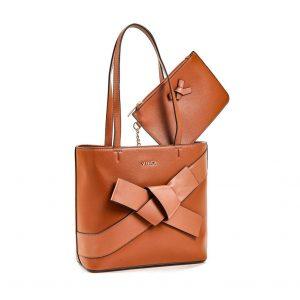 Verde τσάντα ώμου γυναικεία καμηλό 16-5867