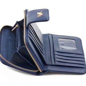 Verde γυναικείο πορτοφόλι μαύρο 18-1105