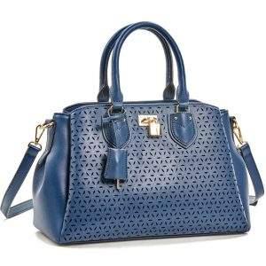Verde τσάντα χεριού και χιαστί γυναικεία μπλε 16-5930