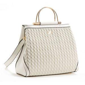 Verde τσάντα χεριού και χιαστί γυναικεία άσπρη 16-5849
