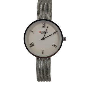 Curren Γυναικείο Ρολόι ασημί μπρασελέ ''πλέγμα'' c-9020-silver