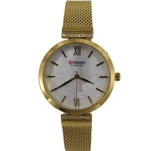 Curren Γυναικείο Ρολόι χρυσό μπρασελέ ''πλέγμα'' c-9067-gold