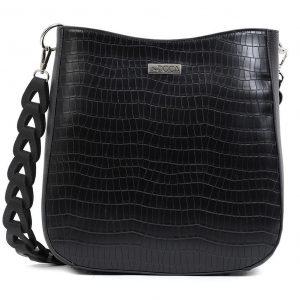 Doca τσάντα ώμου μαύρη 17447-Black
