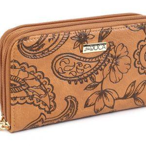 Doca γυναικείο πορτοφόλι καφέ 65944-Brown
