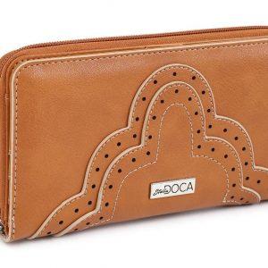 Doca γυναικείο πορτοφόλι κάμελ 66027-Camel