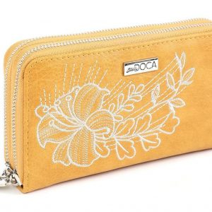 Doca γυναικείο πορτοφόλι κίτρινο 65946-Yellow