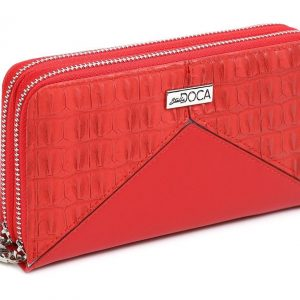 Doca γυναικείο πορτοφόλι κόκκινο 66102-Red