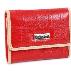 Doca γυναικείο πορτοφόλι κόκκινο 66051-Red