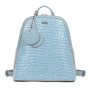 Doca σακίδιο πλάτης γυναικείο γαλάζια 17234-Light Blue
